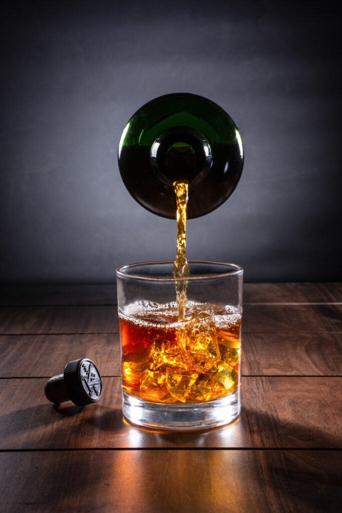 whisky food photography
